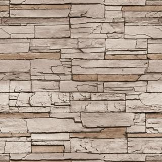 文化石牆面_褐色磚(15194)