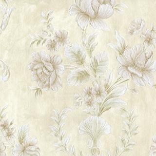 刺繡宮廷花朵_米金色系(62001)
