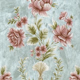 刺繡宮廷花朵_奢華藍系(62005)