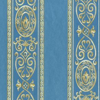 華麗凡爾賽線條設計_深藍(VR36086)
